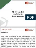 PPTRQ - Aula 01 - Direito Civil - Sucessoes- Prof.murilo