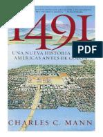 1491. Una Nueva Historia de Las Americas Antes de Colon - Charles MANN