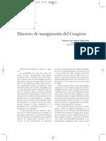 Discurso de Inauguración del Congreso del Catastro Internacional