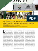 La Calidad y Las Denominaciones de Origen en Los Aceites de Oliva Andaluces