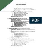 2008 DO PADP Objectives
