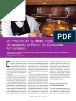 Valoración de La Dieta Española de Acuerdo Al Panel de Consumo Alimentario