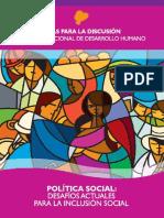 Política Social Desafíos Actuales Para La Inclusión Social