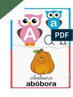 Alfabeto Ilustrado Coruja