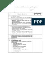 Daftar Tilik Pemeriksaan Genitalia Eksterna Dan Pengambilan Spesimen