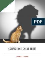 confidence cheat sheet