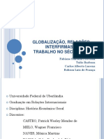 GLOBALIZAÇÃO, RELAÇÕES INTERFIRMAS ETRABALHO NO SÉCULO XXI