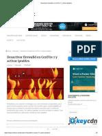 Desactivar Firewalld en CenTOs 7 y Activar Iptables