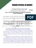 TESTE DE PROFICIÊNCIA EM LÍNGUA ESPANHOLA-2017