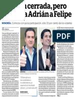 24-12-18 Elección cerrada, pero aventaja Adrián a Felipe