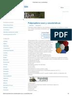 Polipropileno Usos y Características