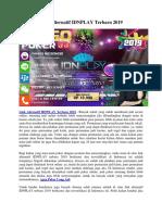 Link Alternatif IDNPLAY Terbaru 2019