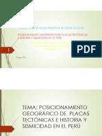 Grupo 6 Posicionamiento Geografico de Placas Tectónicas e Historia y Sismicidad en El Peru