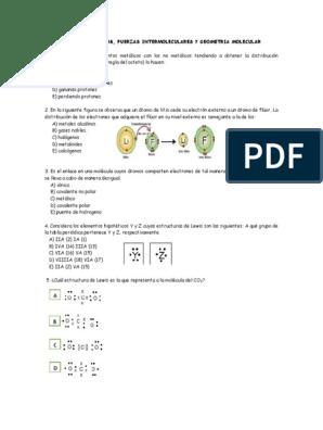 Banco De Reactivos Sobre Enlaces Quimicos Enlace Covalente