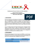 Informe XV Foro Nacional REDBOL 9 y 10 Nov 2018