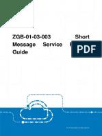 GERAN ZGB-01!03!003 Short Message Service Feature Guide