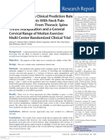 8-6- Examination of a Clinical Prediction Rule to Identify Patients With Neck Pain Likely to Benefit From Throcic Spine Thrust Manipulation and a General Cervical Range of Motion Exercise