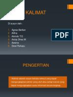 BAHASA INDONESIA KALIMAT