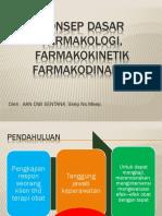 Konsep dasar farmakologi, farmakodinamik 2016.pptx