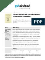 Book Warren Buffett and the Interpretation of Financial Statements Buffett en 10948
