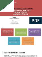 Programas Audífonos