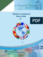 Informe de Cooperación Oficial Externa Banco Central de Nicaragua