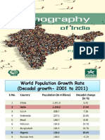 DEMOGRAPHIC FEATURES OF INDIA'S POPULATION.pptx