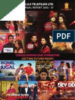 Balaji Annual Report 2016 17
