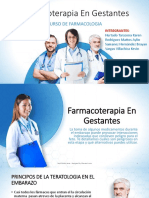 Farmacoterapia en Embarazadas