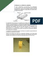 Compresión Axial o Paralela a La Fibra de La Madera