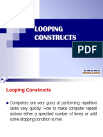 Know More About Looping Constructs