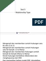 Basis Data Relationship Type