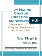 403. New Norms - Creation- Modification of Charge - Ordinance Effect
