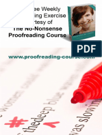 Proofreading Exercise 3