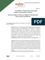 Laicidade, Ensino Religioso e Religiosidade Na Escola Pública