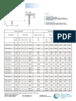 Tee-Bars Data Sheet