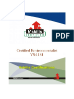 Vs 1181 Certified Environmentalist Brochure