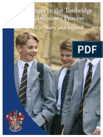 Changes to Admissions Process