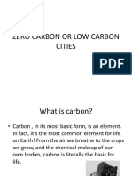Zero Carbon or Low Carbon Cities
