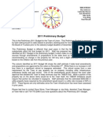 Budget 2011 Preliminary Packet