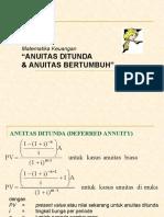 Anuitas Ditunda Dan Anuitas Bertumbuh
