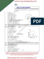 CBSE Class 11 Mathematics Worksheet - Conic Sections (3)