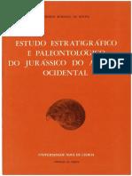 CIÊNCIAS DA TERRA. TI_rULO ESTUDO ESTRATIGRÁFICO E PALEONTOLOGICO DO JURÁSSICO DO ALGARVE OCIDENTAL 1.a Edição em Português_Data_ Dezembro de 1976.pdf