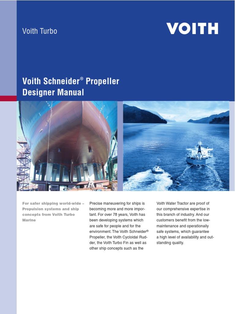 Voith Schneider Propeller Designer Manual Propeller Engines