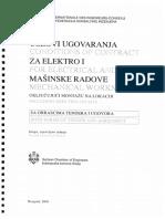 Uslovi Ugovaranja Za Elektro i Mašinske Radove