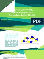 Ikatan Kimia - Ik. Van Der Waals, Hidrogen Dan Perbedaan Ik. Kristal