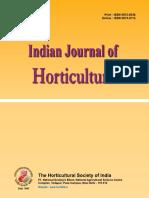 Indian Journal of Horticulture, In vitro Pollen germination studies in Brinjal
