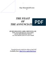 Feast of Annunciation
