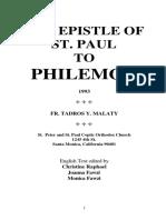 064_Philemon - Fr. Tadros Yacoub Malaty