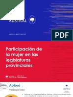 Participación de la mujer en legislaturas provinciales